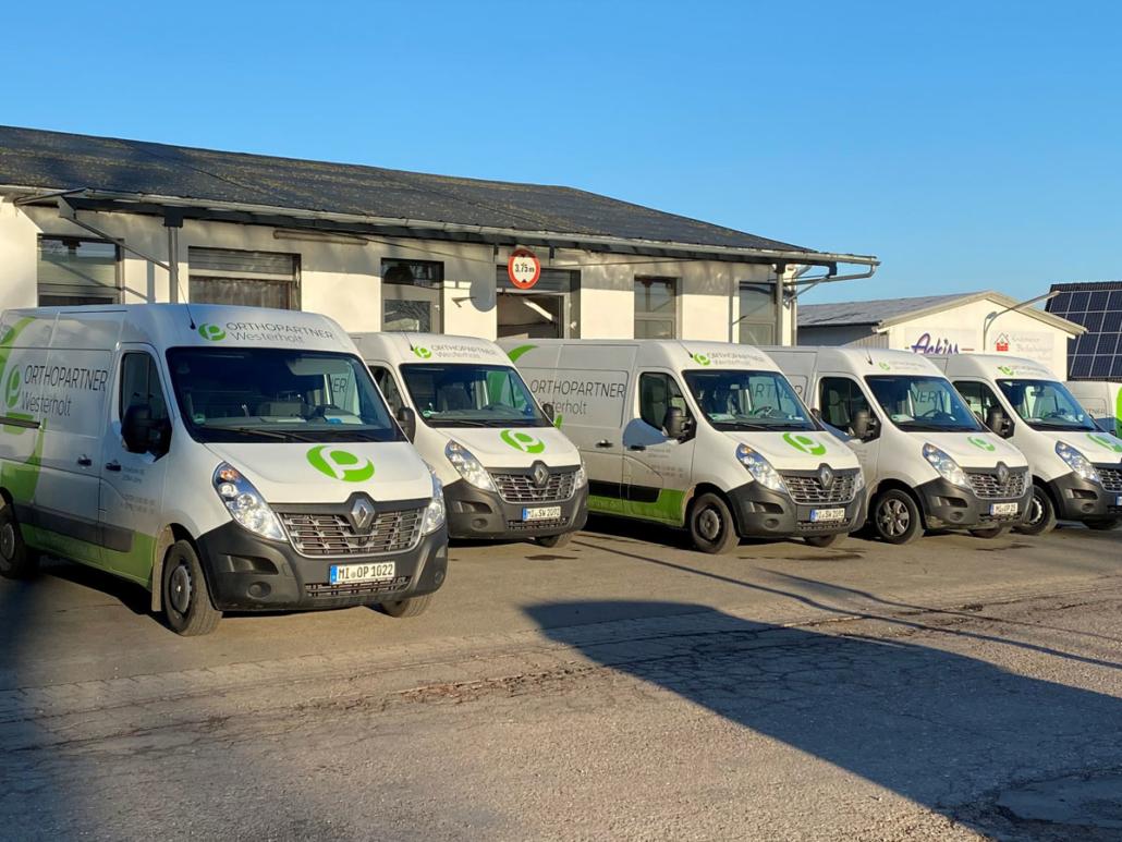 Orthopartner Westerholt Fuhrpark für die mobile Versorgung